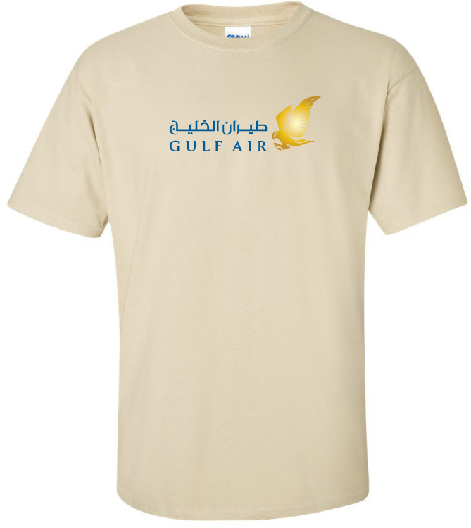 15c0f49f249ba2 Gulf Air Vintage Logo Bahraini Airline T-Shirt. $25.99 $13.99. (You save  $12.00). Natural. Natural. Click to enlarge