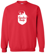 Men S to 3XL Train Canada Rail Crewneck Canadian Pacfic Railway Sweatshirt