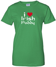Irish Green with Red Heart