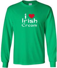 Irish Green with Red Heart