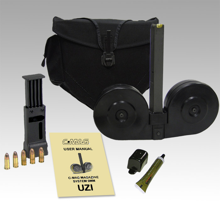 Beta Mag Uzi 9mm 100 Round Drum Magazine Gun Point Wwwavgunscom