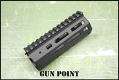 "Gun Point Avenger  5.5"" Custom 9mm Super Lightweight Handguard for AR15 Platform."