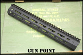 "GPM Avenger Custom 12"" Super Lightweight Rail for AR15 / AR9 Platform."
