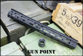 "Gun Point Avenger 15.5"" Custom Super Lightweight Rail for AR15 / AR9 Platform."