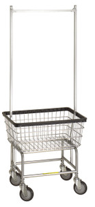 R&B #100E:  Laundry Cart w/double pole hanger
