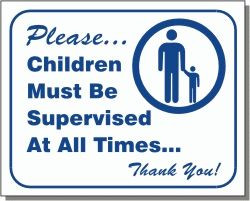 "Vend-Rite #L104:  ""Children Must be Supervised at All Times"""