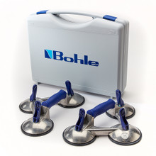 BO.S3.OBL Veribor 2 number - 3 - Cup Aluminium Suction Lifting Tool Set - 2 x BO 603.0BL 100 kg capacity c/w robust Carry Case