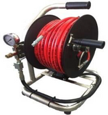 "Drain Cleaning Reel with 60M 1/4"" Hose 350 BAR"