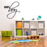 100% Boy Vinyl Wall Decal