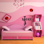 Dance Shoes Pointe Vinyl Wall Decal