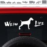 Weim Life Weimaraner Dog Window Glass Decal Sticker 4x13
