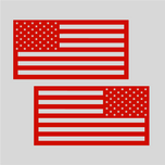 U.S.A. Patriotic Flag Vehicle Decal (x2)