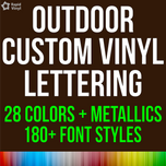 Custom Outdoor Lettering