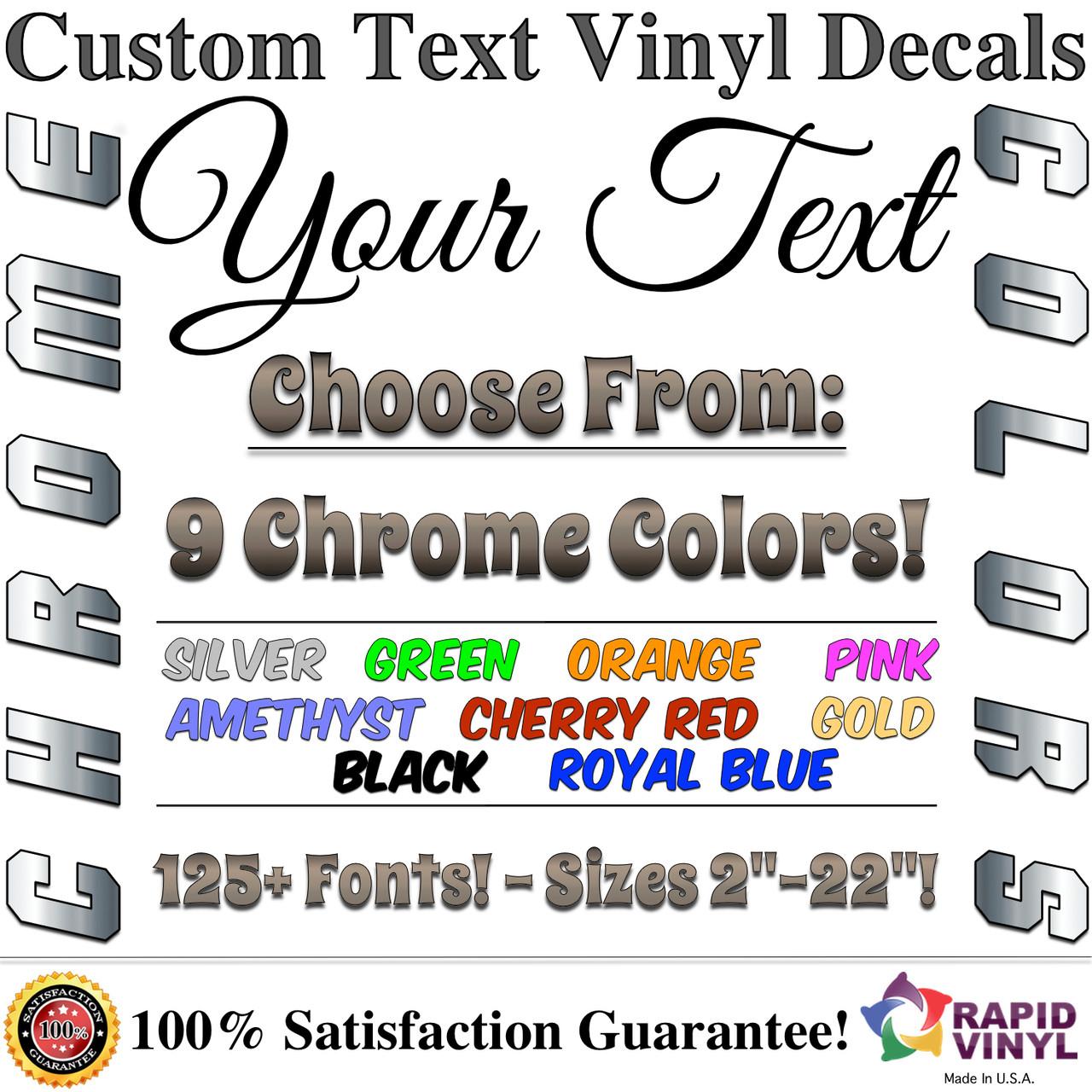 Chrome Custom Lettering