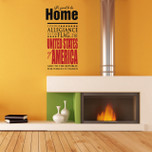 Pledge of Allegiance America Vinyl Wall Decal