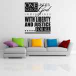 One Nation Under God America Vinyl Wall Decal