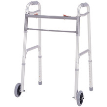 "Merits Deluxe Folding Walker w/ 5"" Wheels - W124"