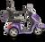 eWheels EW-36 Electric Scooter - Purple Side 1