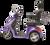 eWheels EW-36 Electric Scooter - Purple Side 2