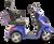 eWheels EW-36 Electric Scooter - Blue Side 1