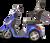 eWheels EW-36 Electric Scooter - Blue Side 2