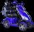 eWheels EW-72 Electric Scooter - Blue 2