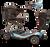 eWheels REMO Auto-Flex Travel Scooter - Blue
