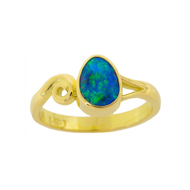 Lost Sea Opals- 18k Black Opal Ring