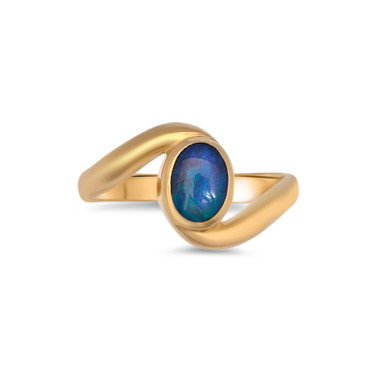 Dark Opal Ring- Lost Sea Opals