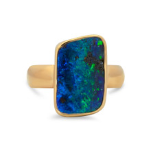 Boulder opal ring- Lost Sea Opals