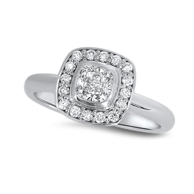Lost Sea Jewels- Diamond ring in 18k White gold