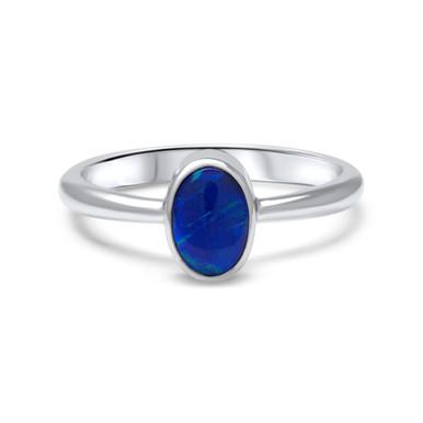 Black Opal Ring - Lost Sea Opals