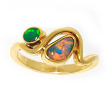 Lost Sea Opals - Black Opal Ring