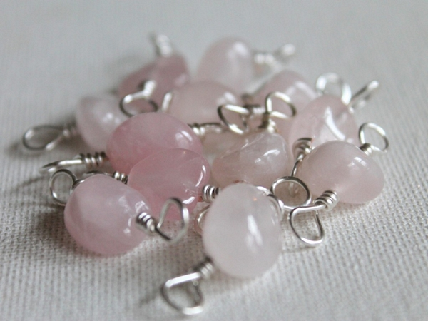 Rose Quartz Necklace Tutorial DIY