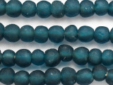 Teal Blue Recycled Glass Beads 14-16mm - Africa (RG35)