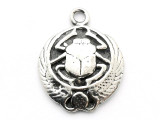 Winged Beetle Scarab - Pewter Pendant (PW115)