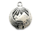 Winged Pyramids - Pewter Pendant (PW129)