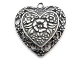 Rose Heart - Pewter Pendant (PW140)