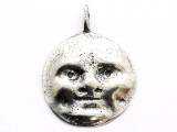 Moon Face - Pewter Pendant (PW152)