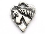 Heart w/Horse 'Love' - Pewter Pendant (PW171)