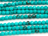 Turquoise Faceted Round 4mm (TUR743)