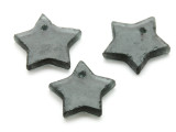 Gray (Smoky) Star Recycled Glass Bead - Pendant - Indonesia (AP450)