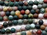 Matte Fancy Jasper  Round Gemstone Beads 8mm (GS927)