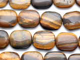 Tiger Eye Tabular Gemstone Beads 25-28mm (GS895)