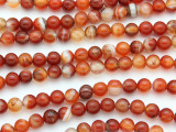 Carnelian Round Gemstone Beads 6mm (GS902)