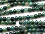 Moss Agate Round Gemstone Beads 6mm (GS1096)