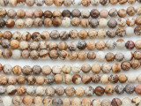 Picture Jasper Round Gemstone Beads 4mm (GS1098)