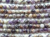 Chevron Amethyst Round Gemstone Beads 10mm (GS1002)