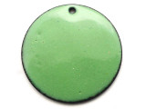 Enameled Copper Disc - Pea Green 25mm (EC705)