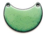 Enameled Copper Crescent - Pea Green 25mm (EC706)